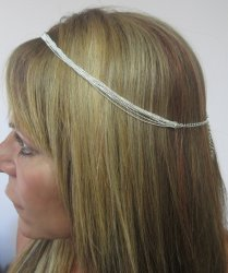 Hair Chain jewelry Silver plated Boho one size adjustable