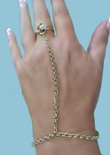 Gorgeous heart flower crystals GOLD gep Hand slave Bracele