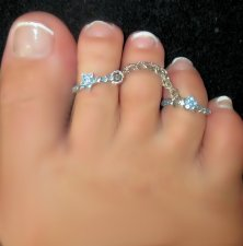 Adorn your toes with stars Blues Look duo Fetish toe rings