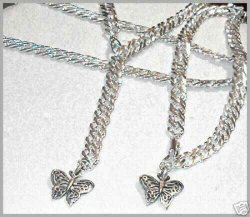 Mesh Sterling sep Butterfly Belly Chain ANKLET set SEXY