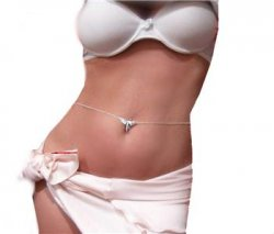 Silver sep DRAGONFLY PINK SEXY Navel Belly Chain