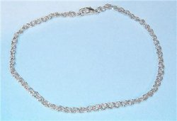 mens Bracelet French Dimond-Cut Rope Silver sep