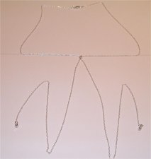 .925 Sterling Silver Thin Lariat Simple Choker Chain