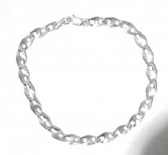 Wide Chain Sterling Silver Stripper Anklet .925 Quality
