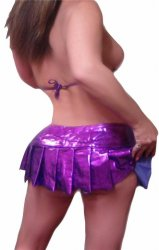 TINY Metallic Purple Mini Skirt Bra top SeT SEXY