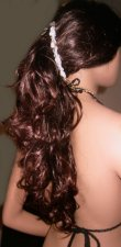 LONG 6 Inch Banana Hair Clip Hold Barrette Rose Beads