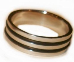 Mens Size 12 Thumb Ring BAND Tribal Black Design