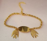 Gold gep Tropical Fish Plate Rope Chain Anklet