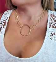 Circles of Love Choker Chain Necklace