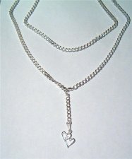 Heavy USA Stunning Quality Sterling Silver sep Lariat Long Neckl