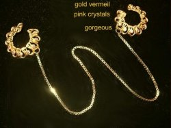 24 karat vermeil box chain Nipple clip sheild NO pierce