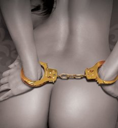 GOLD gp Handcuffs with Keys Submissive Naughty Bondage