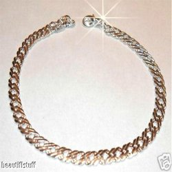 Men Sterling Silver sep Mesh Thick Dom Bracelet