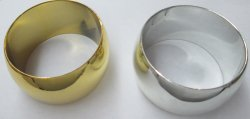 GOLD gep and SILVER sep Large wide Bangle bracelet metals