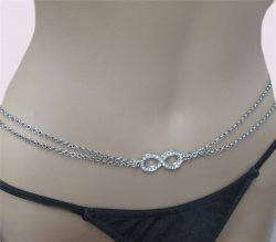 Infinity Sexy Body Chain Silver Swag Double Silver or Gold