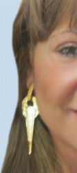 Egyptian BOHO designed Gold GEP long earrings piereced