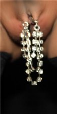 Drapes Rhinestone Dressed up Pussy jewelry No pain clip on lips