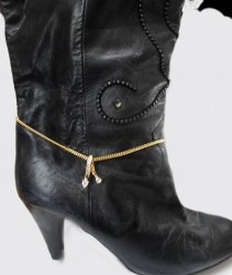 Boot Accessory GOLD cubic zirconia stuuning Chain