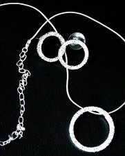 Austrian Crystal Circle of Life Necklace & Earring Set