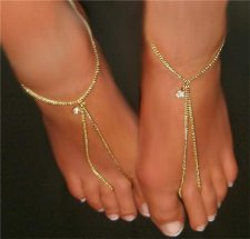 A pair Lifestyle Slave Barefoot Sandals Thong Anklet Bracelet
