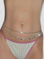 A Set 2 Gorgeous Silver sp Sexy Dancer Belly Belt chains