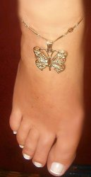 Exotic GOLD gep Butterfly FILAGREE anklet