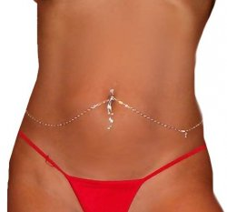 Interchangeable adjustable Navel Bar Silver sep Belly Chain