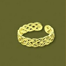 24 karat gold vermeil braid toe ring