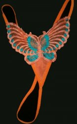 Hot glow ORANGE Butterfly embrodiered Small Pantie