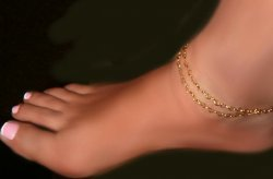 Double swag Heart tiny Hearts Chain anklet SO SWEET