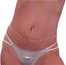 18 KT Gold gep Love Knot Dancer Body Belly Belt Chain