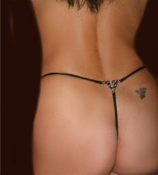 Detach and Wash Jewel Thong pantie Heart Tribal