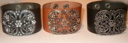 Cuff Wide Antique repro Cuff Leather Beacelet