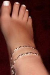 Double swag Drape Wide Solid smooth Diva anklet