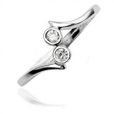 Dots .925 Sterling Toe Ring Diamond Looking