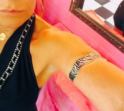 Zebra Tribal Silver sep Lover Enamel Arm Band Cuff