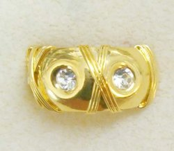 Showy Diva Adjustable Gold Plated Thumb Ring with Crystals