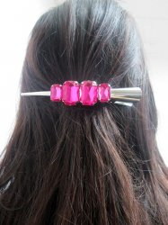 Colorful Rhinestone SETS of 3 Hair Clips Pick From 6 Colors