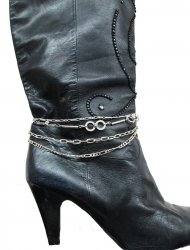 Smoking Sexy Four Row Assorted Silver sp swing Boot Chain Adjust