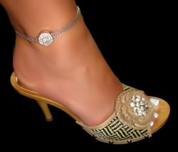 One of a Kind Rhinestone Mesh Anklets Assorted Styles and Colors