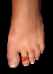 Adorable Coral Flower Toe Ring Adjustable Made in USA
