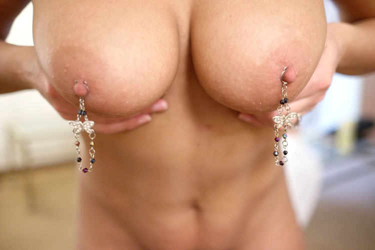 noose hand designed GORGEPOUS nipple Butterflys Stay On - Click Image to Close