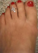 Cubic Zirconia Sterling Silver adjustable one size Toe Ring