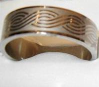 Mens Size 14 Thumb Ring BAND Tribal Design
