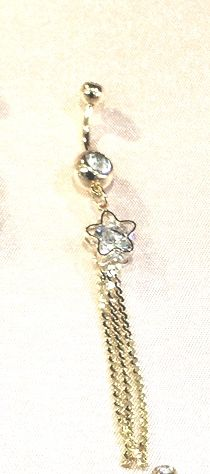 Star Large brillant Cubic navel Belly Charm Bar