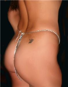 Rhinestone thong Chain One Size G Chain Pantie
